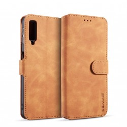 Premium PU Leather Wallet Case Cover with Card Slot Cash Compartment Compatible with Samsung Galaxy A7