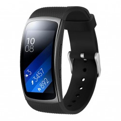 Samsung Gear Fit2 silikone armbånd - sort