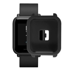 Soft TPU Protection Silicone Full Case Cover for Huami Amazfit Bip Youth Watch-Black