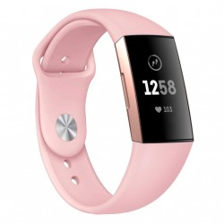 Fitbit Charge 3/4 armbånd silikone Pink (L)