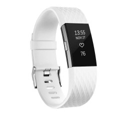 Fitbit Charge 2 armbånd - hvid - S