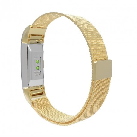Fitbit Charge 2 armbånd Milanese Loop Gold (S)