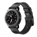 Armbånd Samsung Gear S3 Classic / Frontier / Galaxy Watch Læder - sort