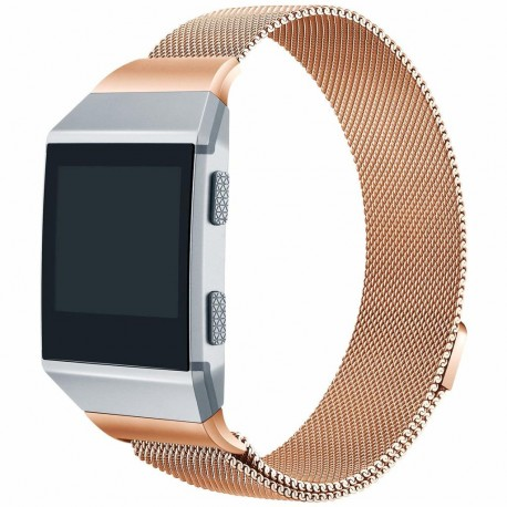 Fitbit Ionic armbånd - Milanese Loop - Rose Gold - S