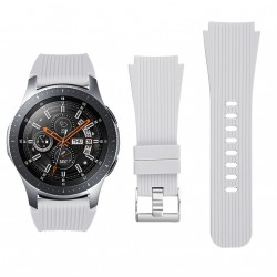 Samsung Galaxy Watch 46 mm Band Soft Silicone Replacement Strap Grey (L)