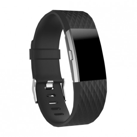 Fitbit Charge 2 armbånd - Sort - S