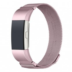 Fitbit Charge 2 - Milanesisk looparmbånd - Rosepink - S