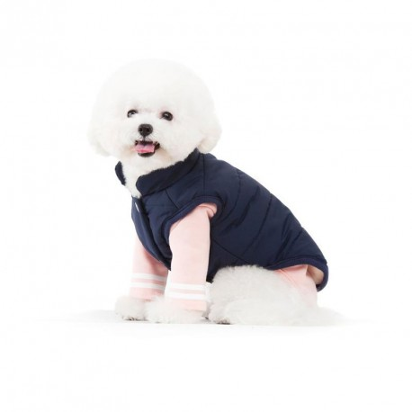 Cold Weather Puppy clothes Warm Vest - Navy - XXL