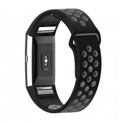 Fitbit Breathable Strap / Fitbit Charge 2 bands - Black/grey