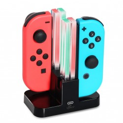 Nintendo Switch Joy-Con ladestation til 4 spilkontroller