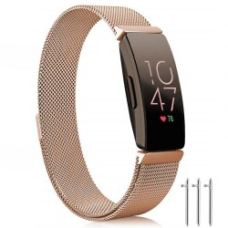 Fitbit Inspire / Inspire HR armbånd Milanese Loop roseguld - L
