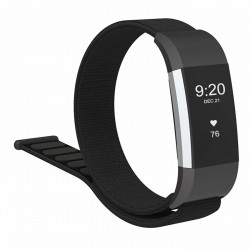 Fitbit Charge 2 armbånd nylon - sort
