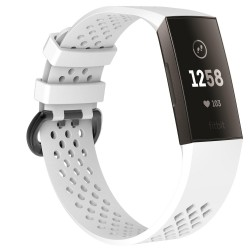 Fitbit Charge 3/4 armbånd - hvid - S