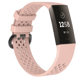 Fitbit Charge 3/4 armbånd - beige pink - S