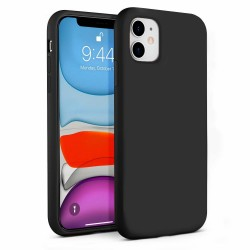 Flydende silikone Shell iPhone 11 - Sort