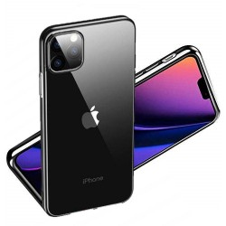 Blødt og stødbestandigt transparent / sort iPhone 11 Pro cover