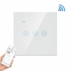 Smart Wifi-switch med touch-3-polet