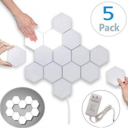 LED vægbelysning Hexagon med touch - 5 stk