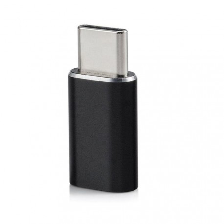 USB-C til Micro USB adapter aluminium - sort